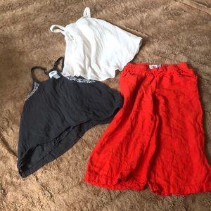 Toddler girls old navy set linen set